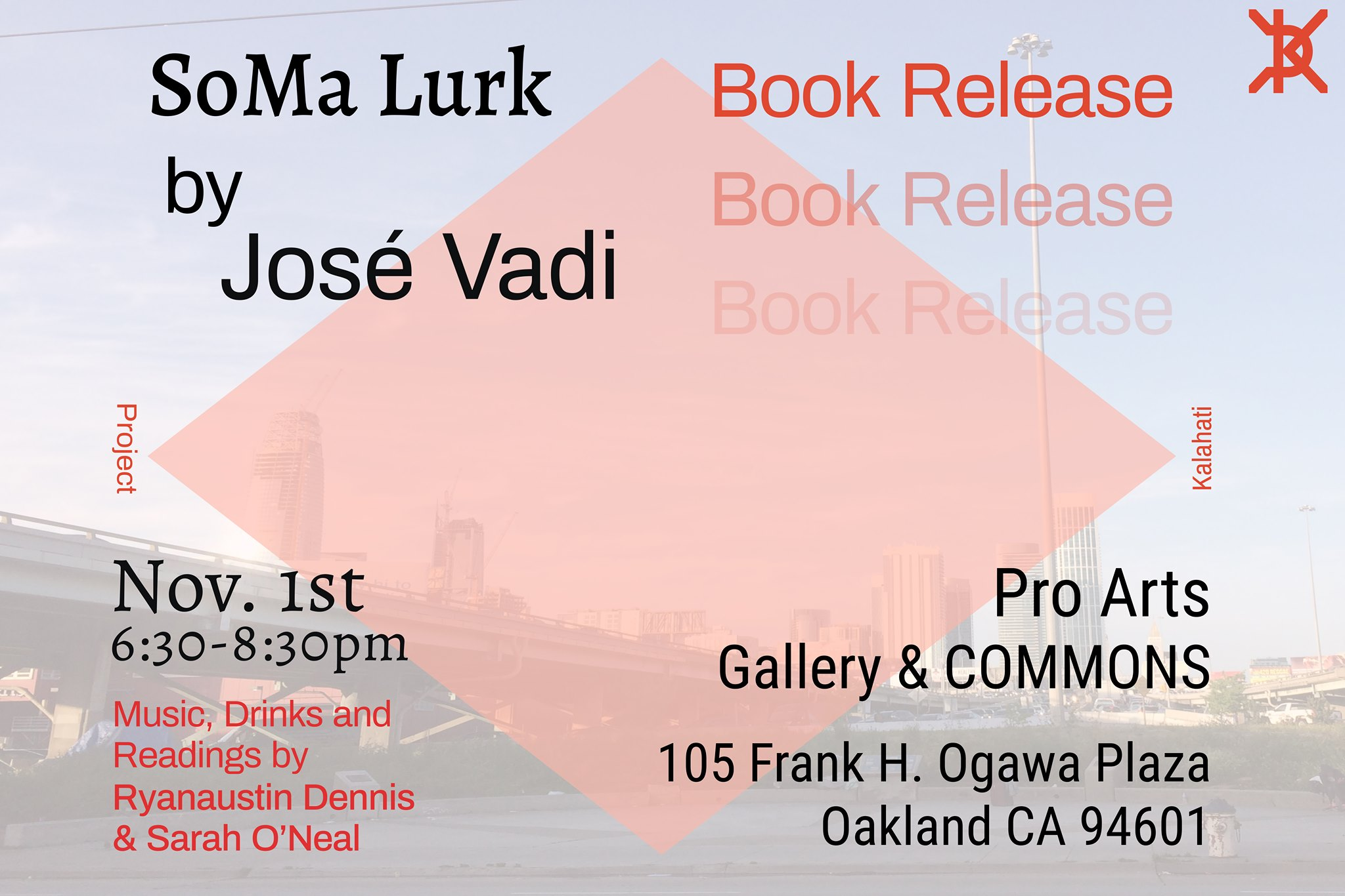 flier for SoMa Lurk launch party