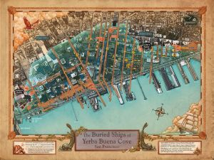 map of the Buried Ships of Yerba Buena Cove