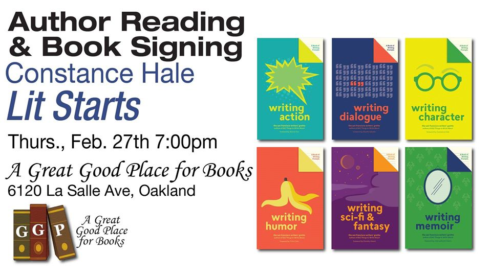 Lit Starts: Signing+Writing Workshop with Author Constance Hale