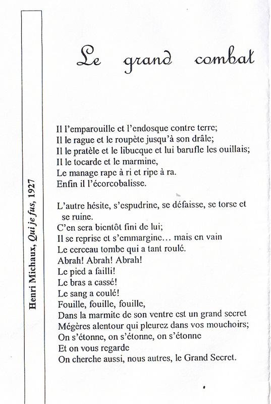 Henri Michaux Le Grand Combat : henri, michaux, grand, combat, Grand, Combat, Français, Collège, Lycée