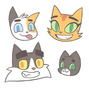 Cat Family Heads