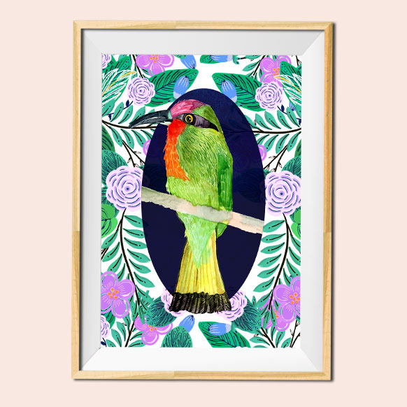 Bird illustration 2 print by Jimena Garcia (LittlCrow)