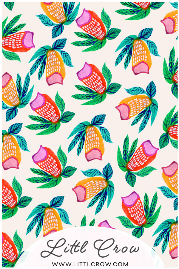 Floral Pattern by Jimena Garcia aka LittlCrow