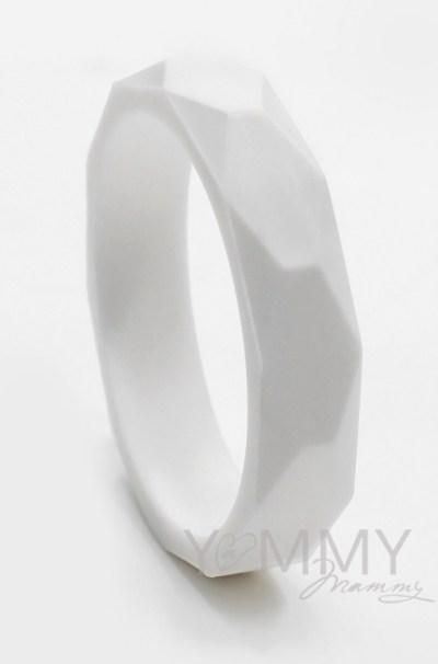 Силиконовый браслет белый