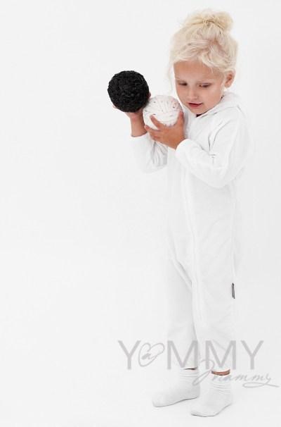 Слингокомбинезон из флиса белый