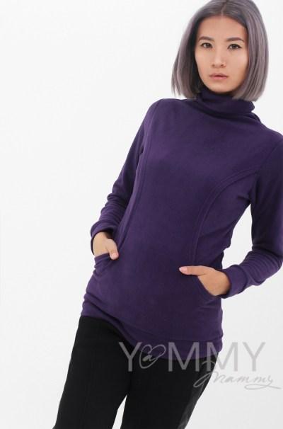 Толстовка флисовая фиолет