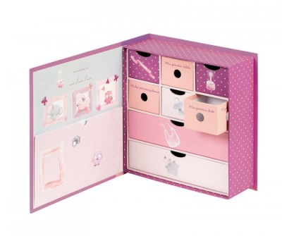 Nattou Коробка для сокровищ Adele & Valentine Слоник и Мышка