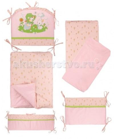Комплект в кроватку Soni Kids Мой садик (6 предметов)