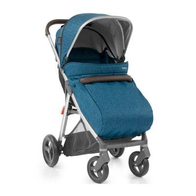 Детская коляска Zero Regatta с накидкой на ножки, голубой Oyster