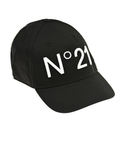 Черная бейсболка с белым логотипом No. 21 детская