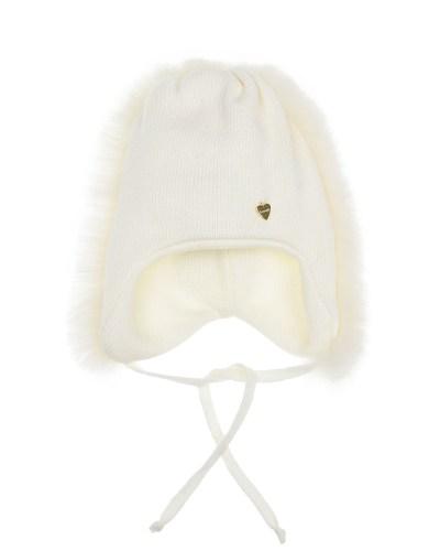 Шерстяная шапка с меховой опушкой Il Trenino детская