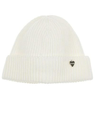 Шерстяная шапка с отворотом и подвеской в форме сердечка Il Trenino детская