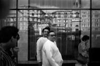 Радж Капур и сыном Риши Капуром. Москва. ММКФ. 1983. ©Александр Тягны-Рядно.