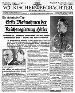 "Номер газеты ""Der Völkische Beobachter"""