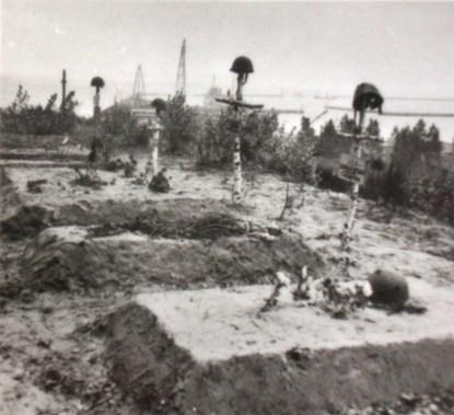 Могилы польских солдат в районе города Гел