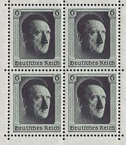 Первая марка с портретом Гитлера