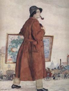 Портрет И.И. Бродского. Картина Бориса Кустодиева
