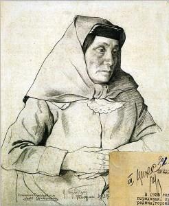 Портрет Екатерины Геладзе. Картина И.И. Бродского