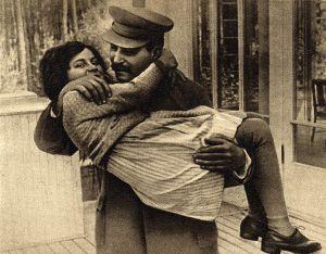 Светлана и Иосиф Сталины. 1935 год