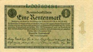 1 рентмарка. Ноябрь 1923 года