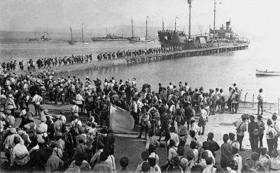 Крымчане бегут из Советской России. 1918 год