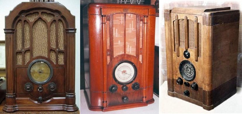 Радиоприемники: американский RCA-140, советские СВД-1 и СВД-М
