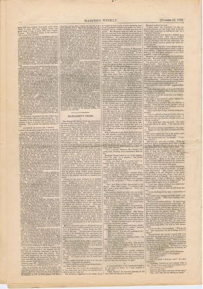 """Статья """"Наши гости из России"""" (конец), с. 663 из газеты Харперс Уикли (Harper's Weekly) том VII, № 355 от 17.10.1863, из коллекции """"Маленьких историй"""""""