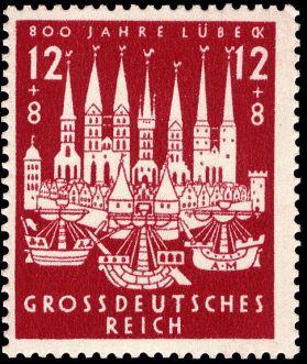 Первая марка Великогерманской Империи 1943 года
