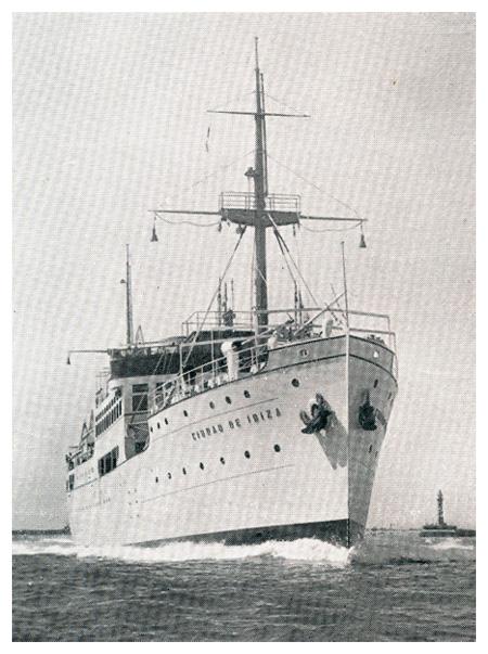 """Лайнер """"Ciudad de Ibiza"""". 1934 год"""
