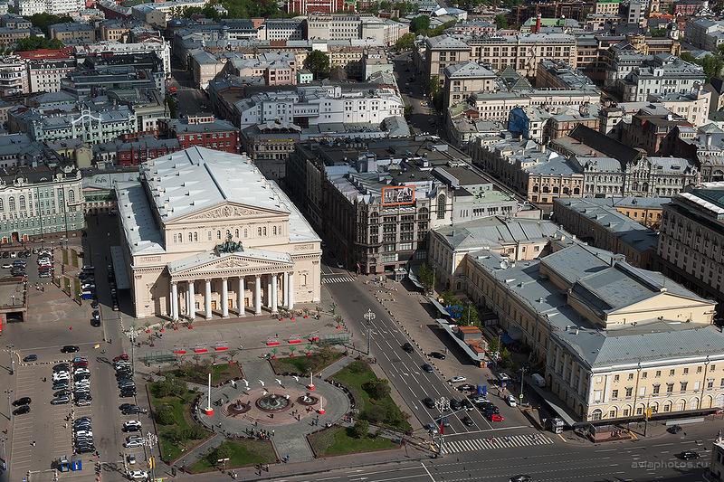 Театральная площадь, Большой и Малый театры, ЦУМ в наше время