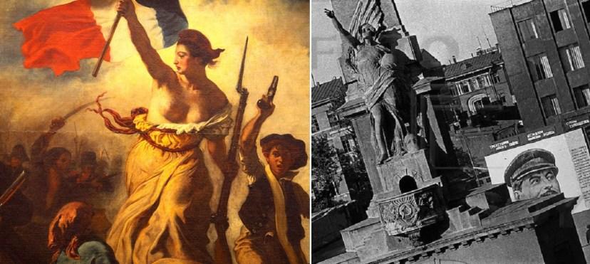 Раскрепощенный образ Свободы так понравился большевикам, что они заимствовали его для монумента Советской Конститутуции
