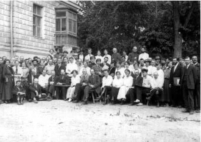 Группа работников просвещения, вошедшая в Союз учителей-интернационалистов