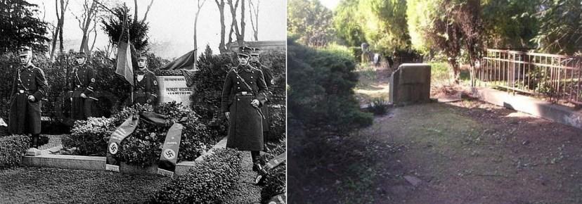 Могила Весселя до и после 1945 года