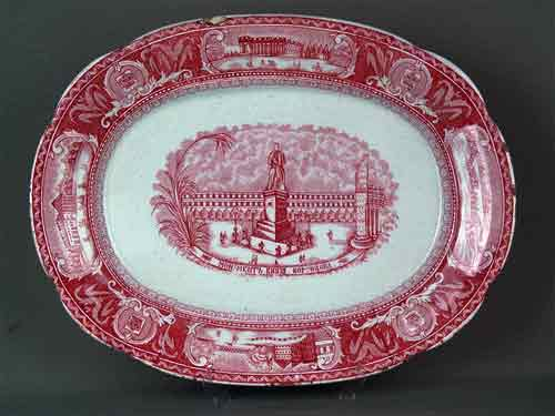 Тарелка из императорского сервиза «Тверского дворца» производства Завода Ауэрбаха. 1820-е годы