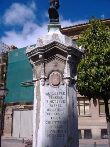 Памятник Риего в Испании