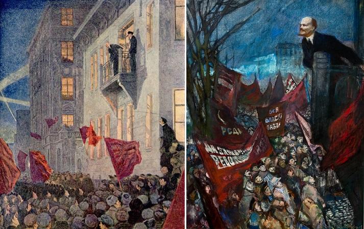 Картины советских художников на тему выступления Ленина с балкона особняка Ксешинской