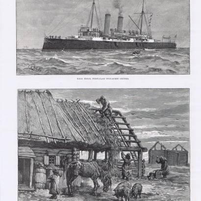 Репринт 25 страницы газеты Illustrated London News, за 6 февраля 1892 г.