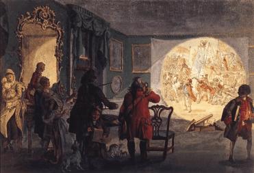 """Показ """"туманных картинок"""", XIX век"""