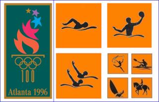 пиктограммы олимпиады в Атланте 1996