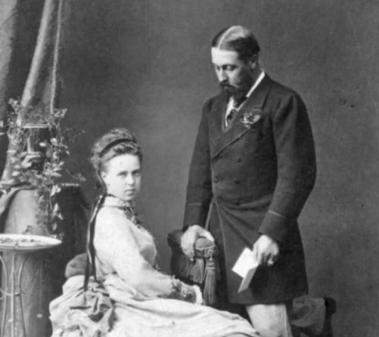 Мария Александровна и герцог Альфред после свадьбы