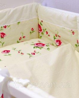 Комплект детского постельного белья 120х60 см «Розочки»