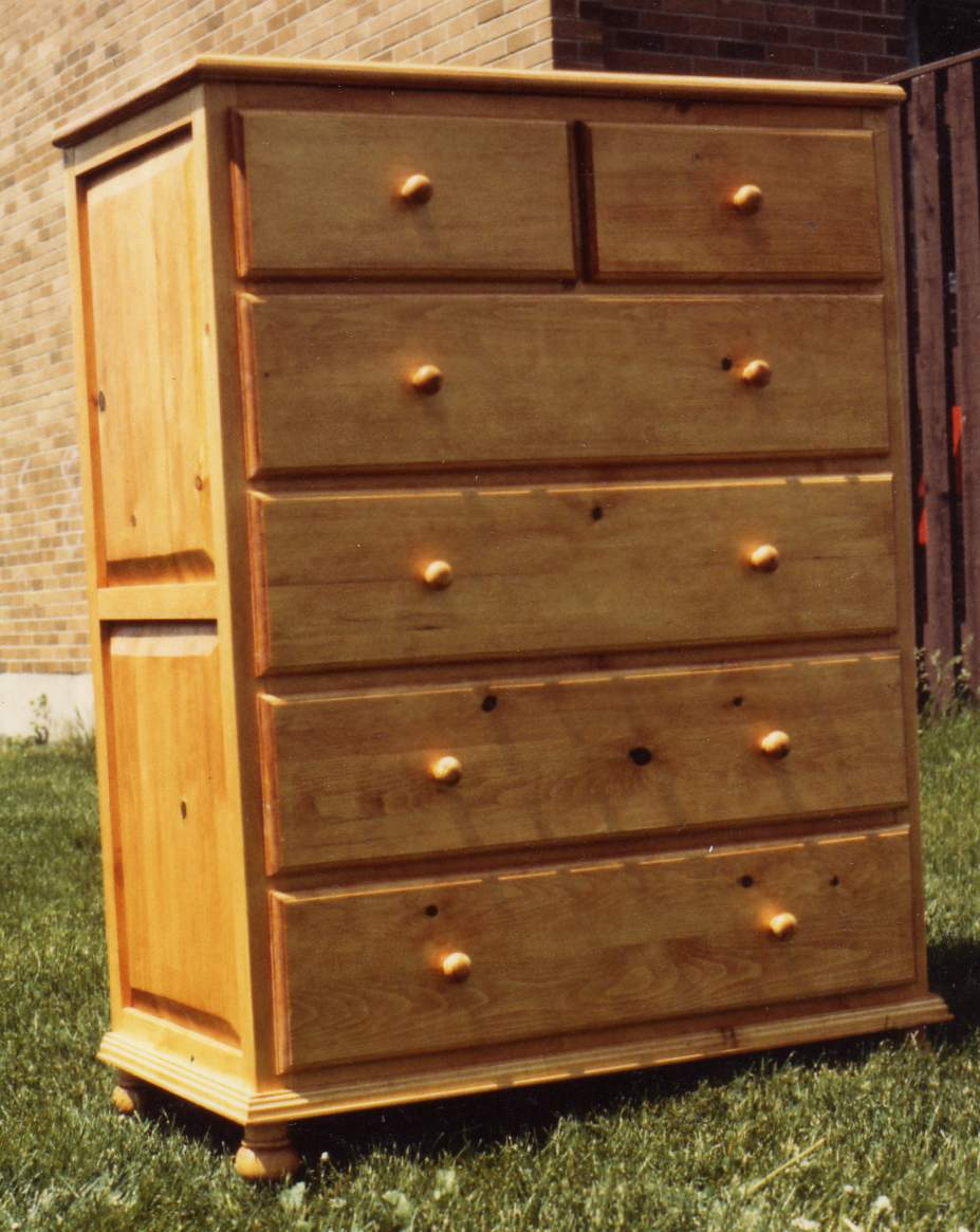6 Drawer Tall Dresser PDF Woodworking