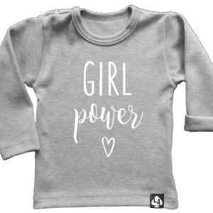 baby tshirt grijs girl power