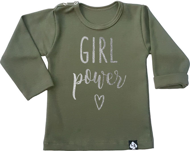 baby tshirt groen girl power