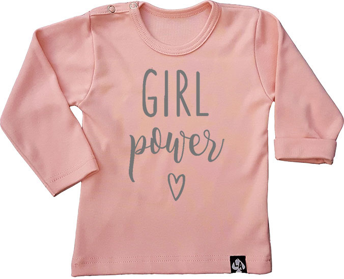 baby tshirt roze girl power