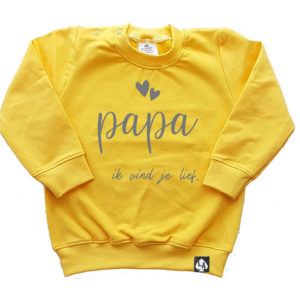 baby sweater geel papa