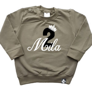 baby sweater khaki birthday
