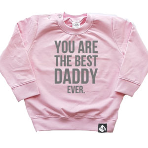 baby sweater roze best daddy