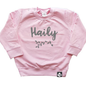 baby sweater roze naam girl