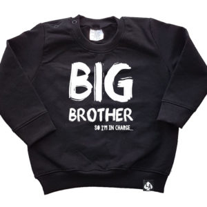 baby sweater zwart big brother
